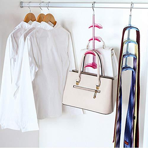- LiboboMetal Hook Handbag Hanger Closet Organization Storage Holder for Scarves (Red)