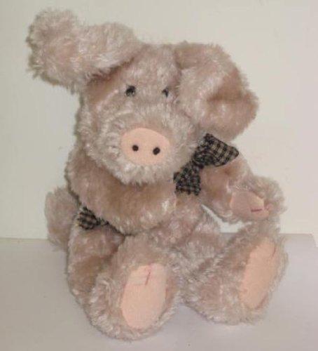 "Boyds Bear Retired Jointed Plush Pig LOFTON Q MCSWINE 9"""