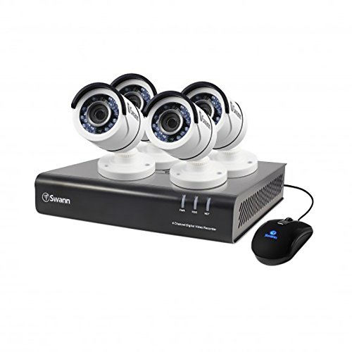 Swann 1080P Digital Video Recorder with 4 Pro-T855 Cameras Surveillance Camera, White/Black (SWDVK-445004-US)