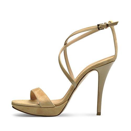 VALERIA Mujer sandalette combinado Beige