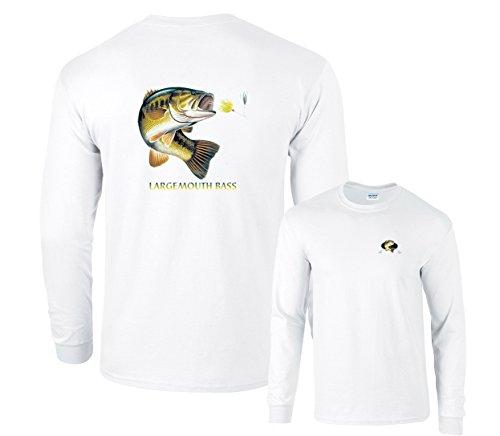 Largemouth Bass Profile Fishing Long Sleeve T-Shirt
