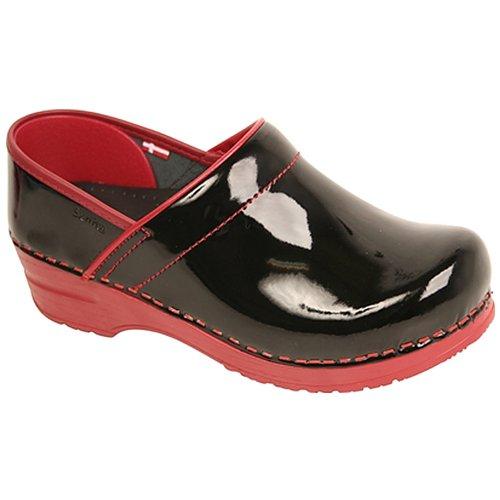 Sanita Women's Xenia Patent Clogs,Red,35 M EU / 5 B(M) US (Red Clog Patent)