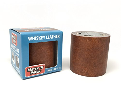 Match N Patch Realistic Whiskey Leather Repair - Red 15' Patch
