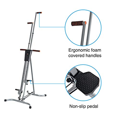 Murtisol Exercise Climber Fitness Vertical Climbing Cardio Machine with LCD Monitor,Natural Climbing Experience for Home Body Trainer by Murtisol (Image #1)