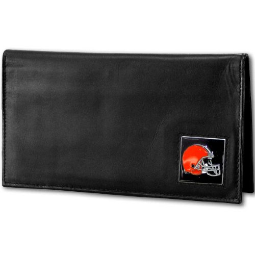 NFL Cleveland Browns Deluxe Leather Checkbook Cover (Deluxe Leather Nfl)