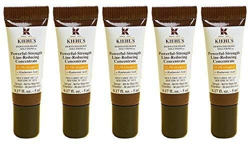 (Kiehls Powerful-Strength Line-Reducing Concentrate Travel Size, Set of 5, 0.17oz/5ml Each)