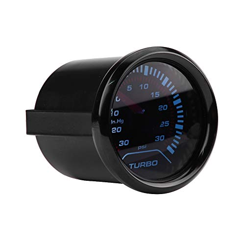Turbo Boost Gauge, Universal 52mm Car Smoke Dial Face Turbo Boost, Turbocharged Pressure Gauge: