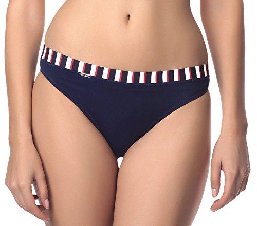Antie Parte Inferior del Bikini Para Mujer Cancum Marina/Blanco/Rojo