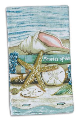 4 Piece Stories of the Sea Kitchen Set / Bundle - 2 Terry Towels, Oven Mitt, Potholder by Kay Dee