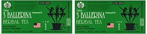 - 3 Ballerina Dieters Tea Extra Strength - 2 Pack (36 Tea Bags)