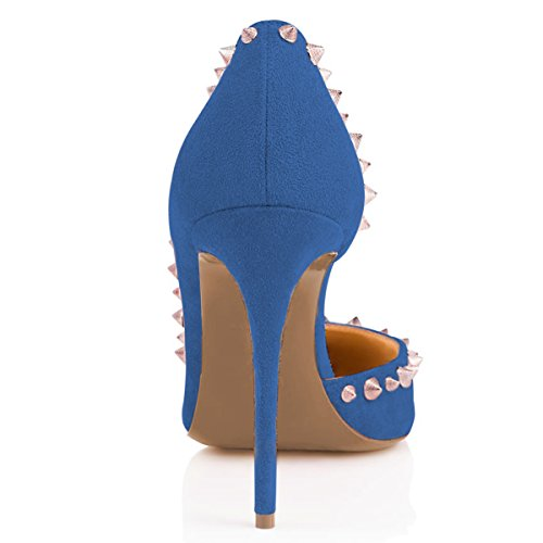 Kengät Pumput Cm 4 Nro D'orsay Naiset Blue 15 Fsj Us Niiteillä Teräväkärkiset Korkokenkiä 12 Luistaa Seksikäs Korkokengät XPantwTqR