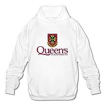 NSUISIDE Men's Queen's Logo Queen's University Hooded Sweatshirts M White