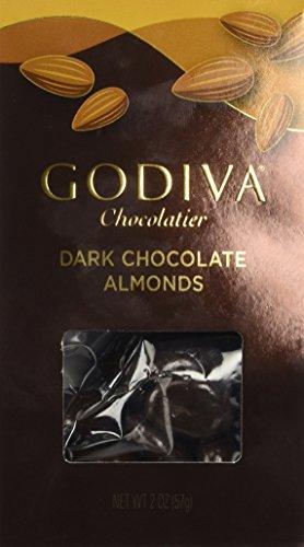 Godiva Choc Drk Almond, 2 oz