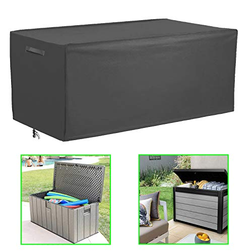 Patio Deck Box Cover Coffee Table Cover Outdoor Cushions Box Cover,Waterproof Outdoor Storge Box Protector,Rectangular Garden Furniture Cover,52