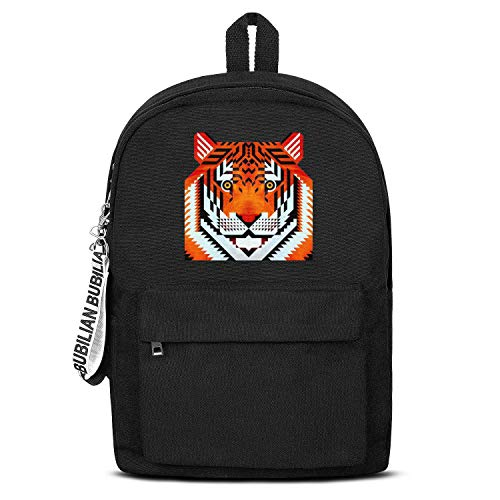 Tiger Tigers Eye Unisex Canvas Backpack Fun Satchel Small Backpack for Girls Boys