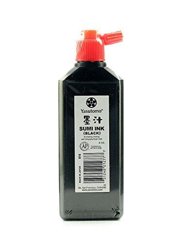 Yasutomo Black Sumi Ink (Bokuju) 6 oz. [PACK OF 12 ] by Yasutomo