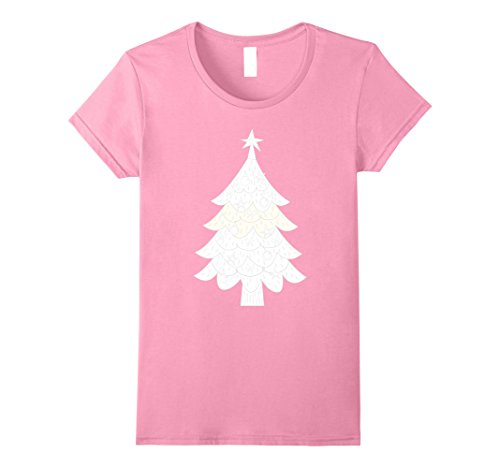 Womens Christmas Tree Costume DIY Shirt Small (Pink Ladies Costume Diy)