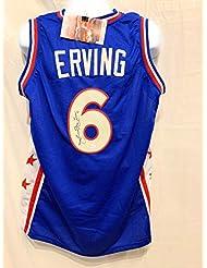 Julius Erving Dr J Philadelphia 76ers Signed Autograph Blue Custom Jersey  JSA Witnessed Certified 66a622c8c