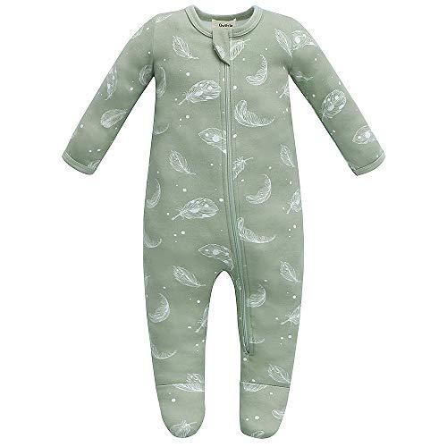 Owlivia Organic Cotton Baby Pajamas, Boys Girls Zip