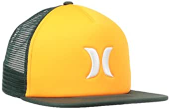 Hurley Men's Blocked Trucker Hat, Range Green, One Size
