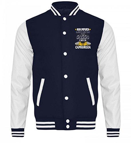 Sudore Shirtee Nonno Camionista Per Bambini white Camicia College Oxford Giacca Navy YTw7TS