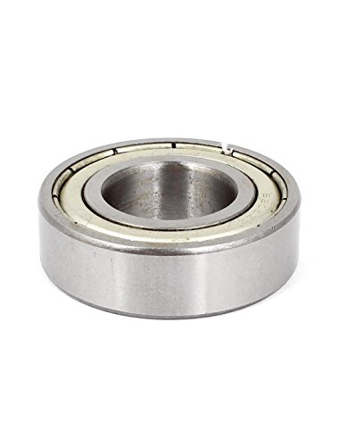 Uxcell a15011600ux0132 6205ZZ Double Shielded Sealed Deep Groove Ball Bearing 25x52x15mm, 1 Metal