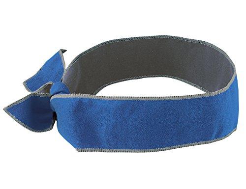 Ergodyne Chill-Its 6700MF Blue Microfiber Cooling Bandana/Headband
