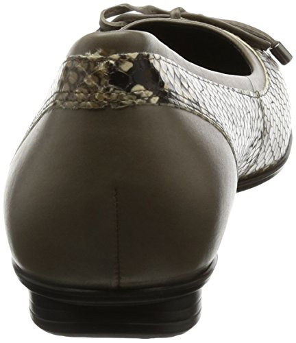Ecco Mujeres Touch Touch Ballerina Bow Ballet Flat Stone / Arena