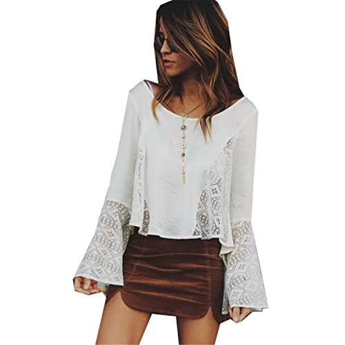 Price comparison product image QIHUOKEJU fashion women sweet and sexy black white top causal long sleeve blouse