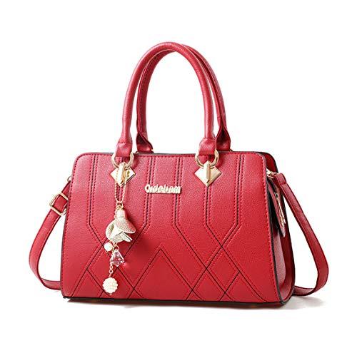clutches de Carteras y Burdeos de DEERWORD mano hombro y Mujer Shoppers bandolera Bolsos bolsos zx4gp74q8