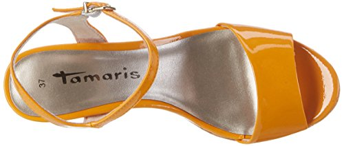 Tamaris Orange 607 28002 Patent Tongs Femme Orange C1q4twnCrx