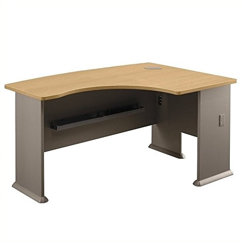 Bush Universal Light - Bush Business Furniture Series A Collection 60W x44D Right Hand L-Bow Desk in Light Oak