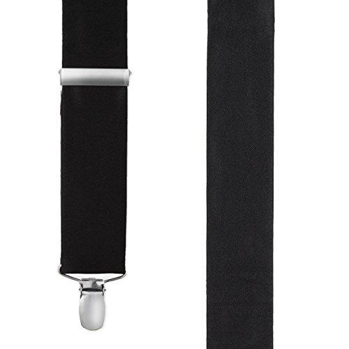 100% Silk Solid Satin Suspenders Wedding Collection 1.5 Inch Wide, Y-back
