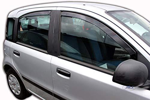 J&J Automotive Windscherm, compatibel met Fiat Panda 5-deurs, 2003-2012, 4 stuks
