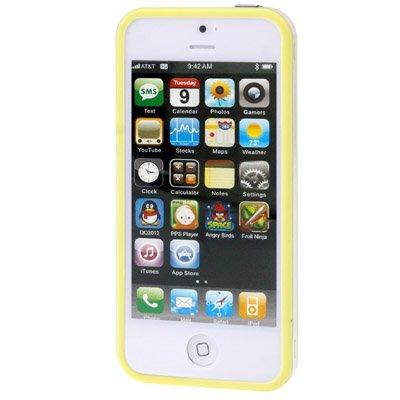 gada - Handyhülle für Apple iPhone 5S 5 5G - Hochwertiger TPU Bumper Cover Case - Transparent gelb