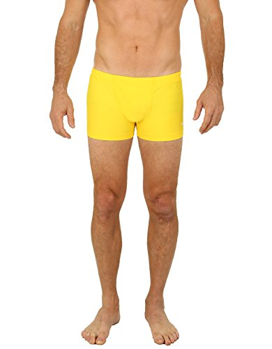 UZZI Men's Basic Bike Briefs Bikewear Yellow (Medium)
