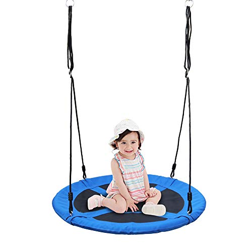 """Naughty Jungle 40"""" Flying Saucer Tree Swing, Baby Swing Seat, Easy Install, Steel Frame"""