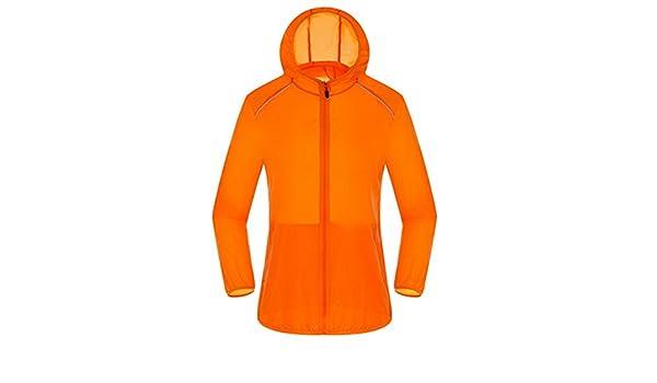 Ultra Light Basic Jacket Women Men Waterproof Coat Summer Windbreaker Girls Female Jackets Hooded Orange XXXL at Amazon Mens Clothing store: