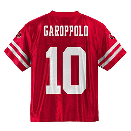 Outerstuff Jimmy Garoppolo San Francisco 49ers #10 Red Youth Home Player Jersey (X-Large 18/20)