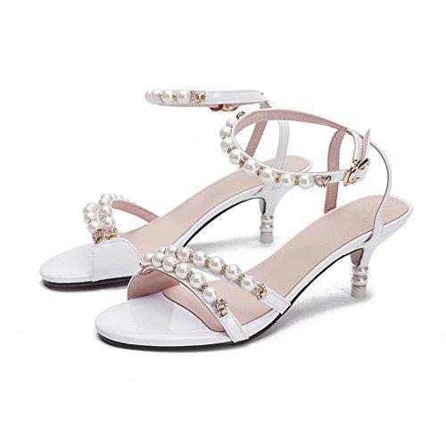 Inconnu 1TO9, Sandales Pour Femme Blanc