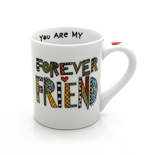 "Our Name is Mud ""Forever Friend"" Cuppa Doodle Porcelain Mug, 16 oz."