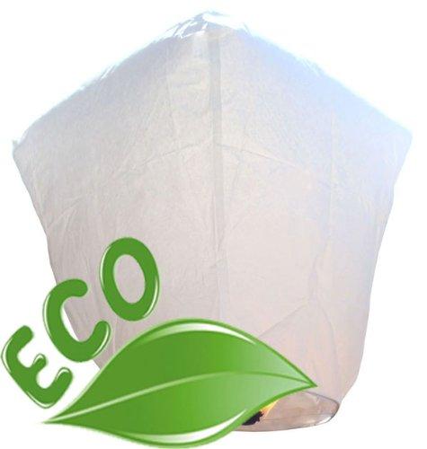 (Just Artifacts Bulk 100 ECO Wire-Free Flying Chinese Sky Lanterns (Set of 100, Wire-Free Diamond, White) - 100% Biodegradable, Environmentally Friendly Lanterns! )