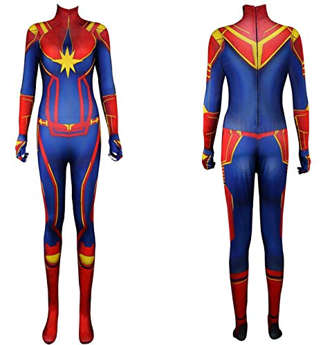 DANNEL Children Lycra Zentai Suit Halloween Cosplay Body Shaper Red -