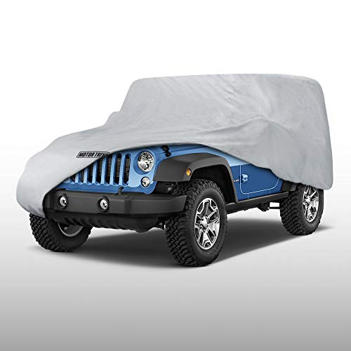 - Motor Trend OV-440 Waterproof & Breathable 4 Season Custom Fit Outdoor Cover for 2-Door Jeep Wrangler (1987-2019 JK, JL, CJ, YJ,& TJ) - Lock Included