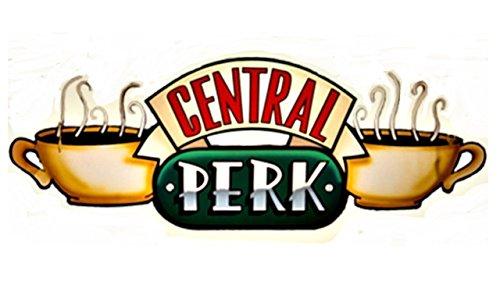 Serie FRIENDS Central Perk Sticker  Big Sticker. 14 inch long x 7 inch tall. Serie Friends. The FRIENDS Tv sitcom Coffee house.