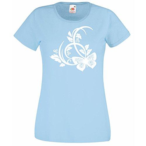 a Camicia Premium shirt Blue Super donna da bellissimo Fruit Random Gift astratta Loom Decal T farfalla Butterflies con Free donna da The Of motivo YOdZq