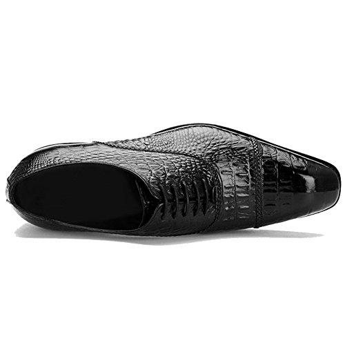 Soirée Black Du De Derby Des Robe Père Motif Ups Dentelle Work Pour Formelle Hommes Oxford Crocodile MERRYHE Véritable Chaussures Les Plain En De Cuir De Toe Mariage Cadeaux aptZqtwR4n