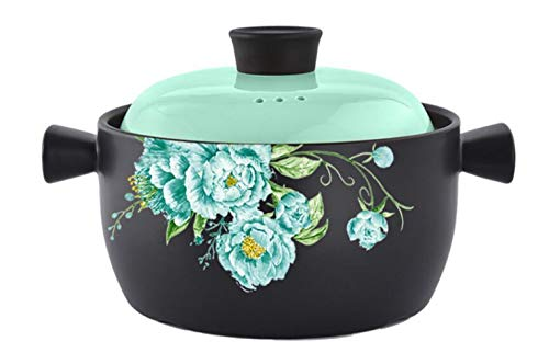 Casserole Pot Dish With Lid High Temperature Resistance Stone Pot Lithium Porcelain Soup Pot Composite Multilayer Bottom 3L