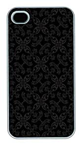 IMARTCASE iPhone 4S Case, Black Paisley Pattern Polycarbonate Back Case for Apple iPhone 4S/5 White