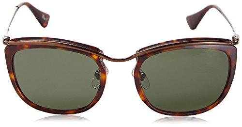 Persol Lunettes de soleil 3081 Pour Femme Black / Matte Crystal / Green 899/31: Matte Tortoise